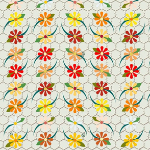 Floral Chickenwire Warm
