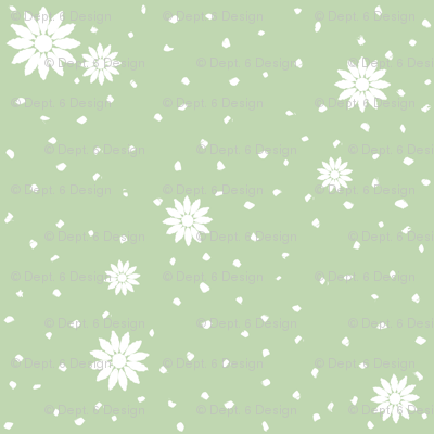 Wild Daisies: Mossy Green 6