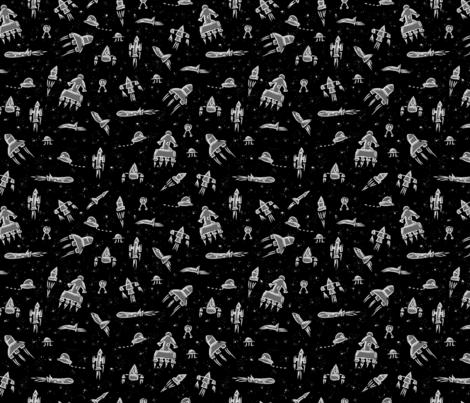 Spaceships fabric by pommynewyork on Spoonflower - custom fabric