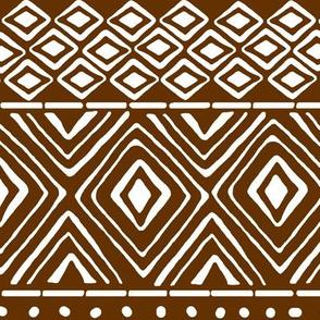 Ornate Mud Cloth - Brown // Large