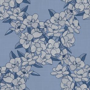 Magnolia Story Main - Indigo Linen