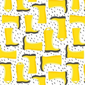 rain boots - yellow w/rain