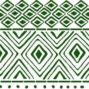 Ornate Green Mud Cloth // Large