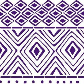 Ornate Purple Mud Cloth // Large