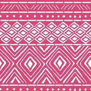 Ornate Mud Cloth - Pink // Small