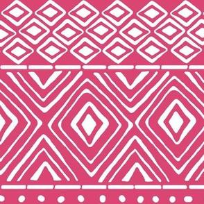 Ornate Mud Cloth - Pink // Large