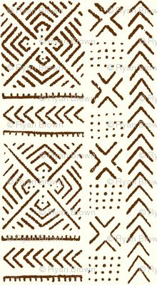 Line Mud Cloth // Mocha & Ivory // Large