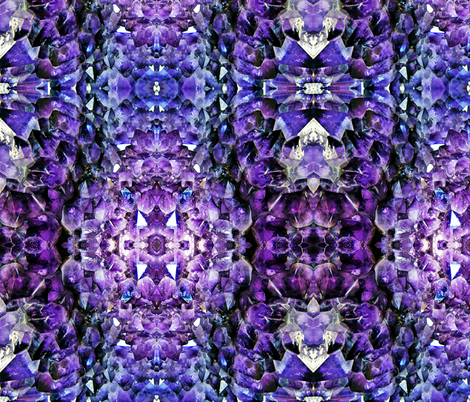 Amethyst Geode fabric by thewellingtonboot on Spoonflower - custom fabric