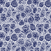 BLue and White China Floral