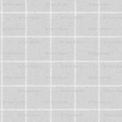 French Grey Linen Check