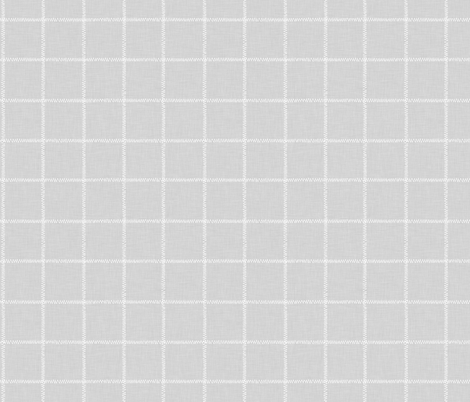 French Grey Linen Check fabric by thewellingtonboot on Spoonflower - custom fabric