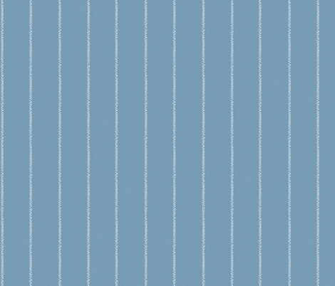 French Blue Linen Stripe fabric by thewellingtonboot on Spoonflower - custom fabric