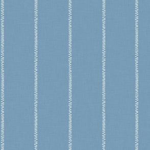 French Blue Linen Stripe