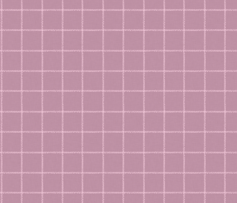 French Pink Linen Check fabric by thewellingtonboot on Spoonflower - custom fabric