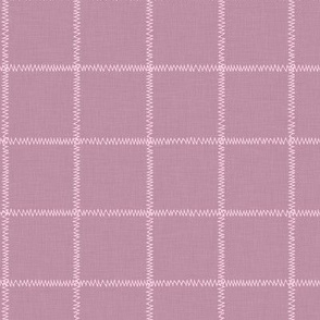 French Pink Linen Check