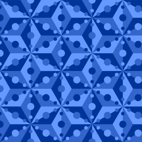 07378877 : SC3C spotty : deep sapphire fabric by sef on Spoonflower - custom fabric