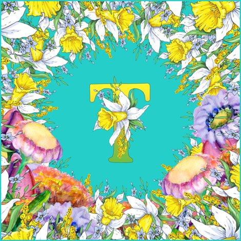Rletter-t-daffodils-watercolor-flowers-turquoise_shop_preview