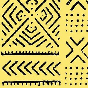Line Mud Cloth // Yellow // large