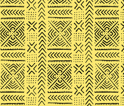 Line Mudc Cloth // Yellow // Small fabric by thinlinetextiles on Spoonflower - custom fabric