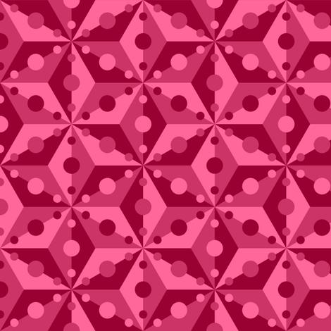 07379151 : SC3C spotty : raspberry fabric by sef on Spoonflower - custom fabric