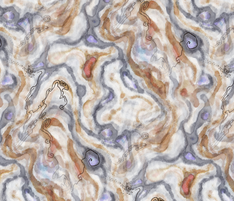 spinodal decomposition fabric by nerdlypainter on Spoonflower - custom fabric