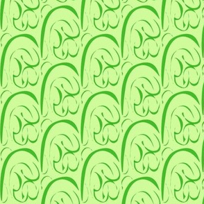 Rolling  Hills and Valleys on Pale Green - Small Scale