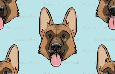 German Shepherd (baby blue)