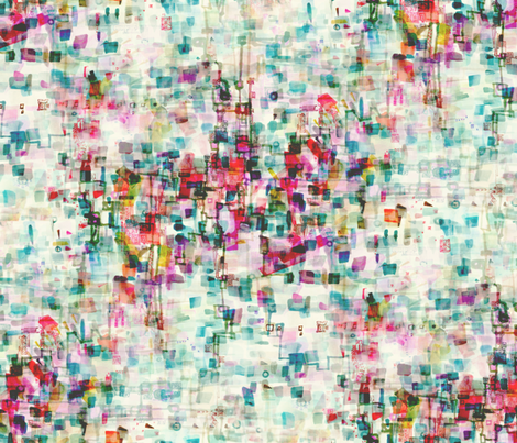 deconstructed gingham fabric by nerdlypainter on Spoonflower - custom fabric