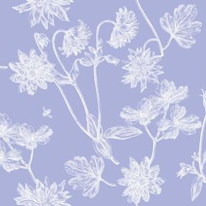 Jacobin Toile blue violet 2