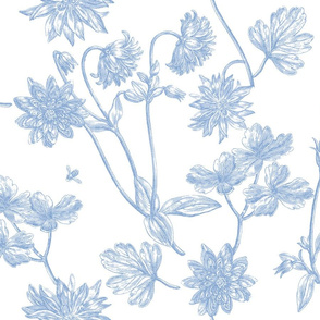Jacomina Toile blueberry