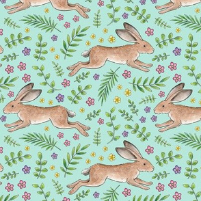 Leaping Spring Hares on mint