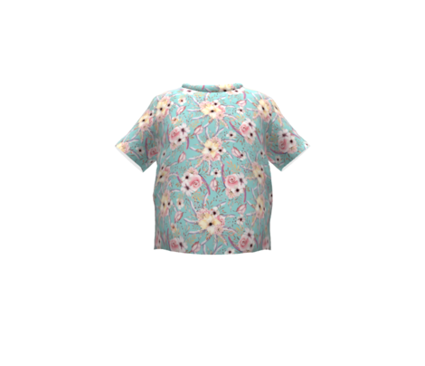WATERCOLOR FLOWERS ON AQUA BLUE GREEN COORDINATE TO SPRING TEEPEE
