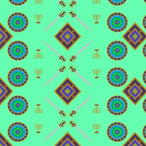 Simeon warrior mint green