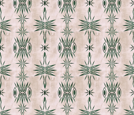 Mila Burst creme pine fabric by schatzibrown on Spoonflower - custom fabric