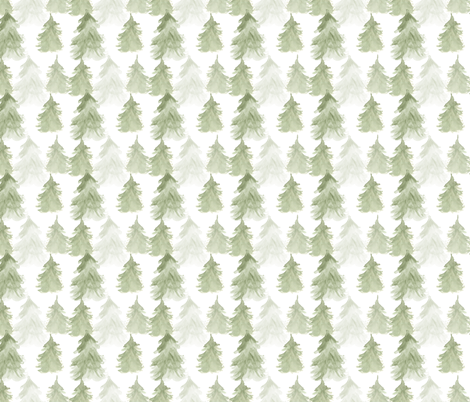 Forest Trees, Pine Trees, Woodland Pattern  fabric by bianca_pozzi on Spoonflower - custom fabric