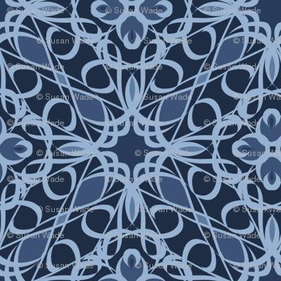 Blue Denim Lace