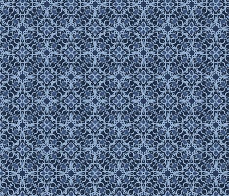 Blue Denim Lace fabric by swade on Spoonflower - custom fabric