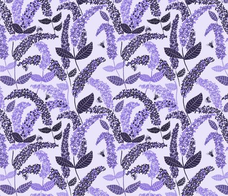 Bee Buddleia fabric by ruth_robson on Spoonflower - custom fabric