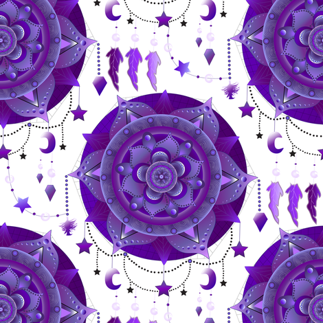 Mandala Dreamcatcher fabric by everhigh on Spoonflower - custom fabric