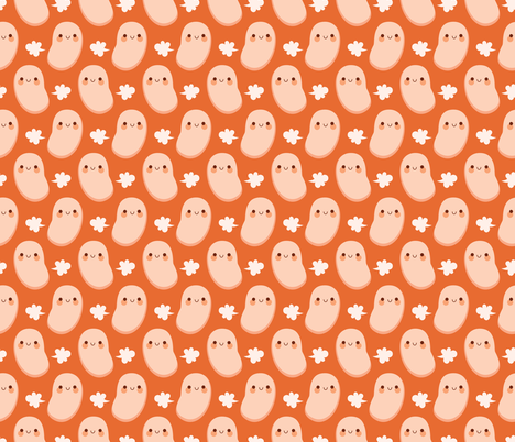 Baked beans farting fabric by petitspixels on Spoonflower - custom fabric