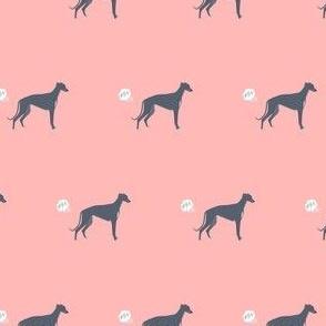 greyhound funny fart dog breed fabric pink