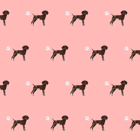 german shorthair pointer funny fart dog breed fabric pink fabric by petfriendly on Spoonflower - custom fabric