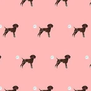 german shorthair pointer funny fart dog breed fabric pink