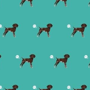 german shorthair pointer funny fart dog breed fabric teal