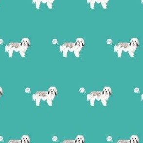 havanese funny fart dog breed fabric teal