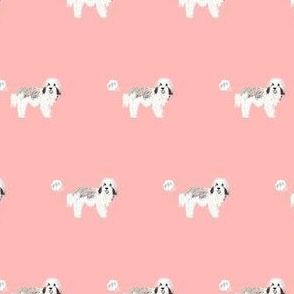 havanese funny fart dog breed fabric pink