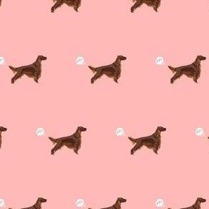 irish setter funny fart dog breed fabric pink