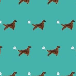 irish setter funny fart dog breed fabric teal