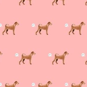 irish terrier funny fart dog breed fabric pink