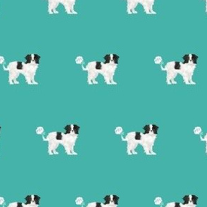 japanese chin funny fart dog breed fabric teal